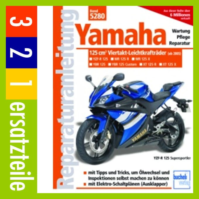 yamaha 125 ccm viertakt leichtkraftr der ab modelljahr. Black Bedroom Furniture Sets. Home Design Ideas
